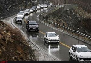 بارش باران و برف در محورهای مواصلاتی بیش از نیمی از استان های کشور