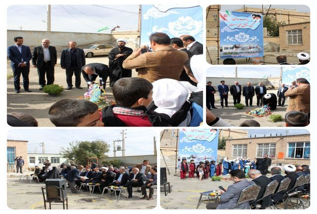 آیین کلنگ زنی احداث مدرسه مشارکتی زرین تاج شهبازی در روستای مقیم آباد زده شد