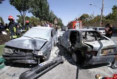 دو پراید با هم تصادف کردند 9 نفر کشته و  مصدوم شدند