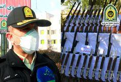 41 قبضه سلاح شکاری قاچاق در قزوین کشف شد