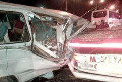 13 مصدوم در حادثه رانندگی  محور بم - زاهدان