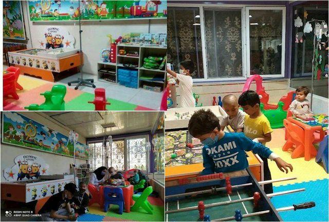 تجهیز اتاق بازی درمانی کودکان بخش انکولوژی بیمارستان بعثت سنندج