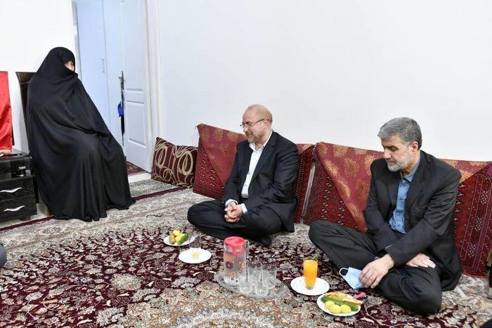 قالیباف با خانواده شهید الله کرم دیدار کرد