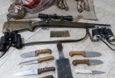 دستگیری متخلفان شکار و صید همرا با لاشه یک کل وحشی در منطقه شکار ممنوع کلاته