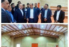 سلطانیفر از سالن ورزشی نشاط شهرستان بیدخون بازدید کرد