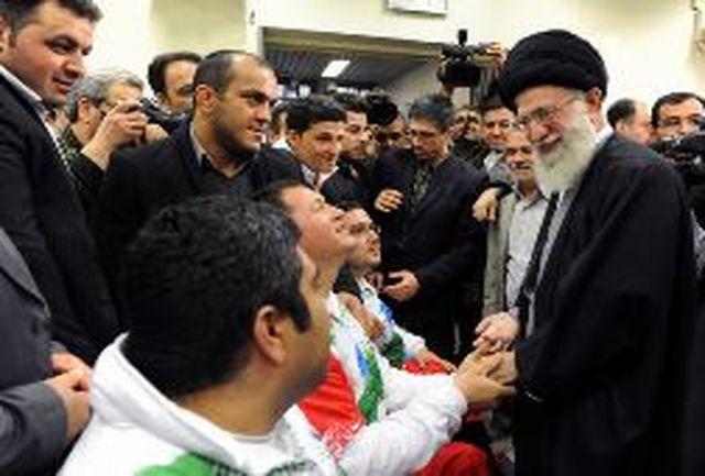 دیدار صمیمانه ورزشکاران با رهبر معظم انقلاب
