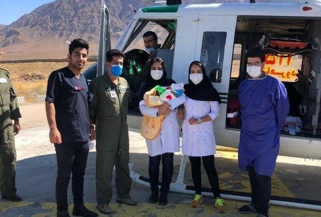 نجات مادر و نوزاد توسط بالگرد اورژانس در میامی