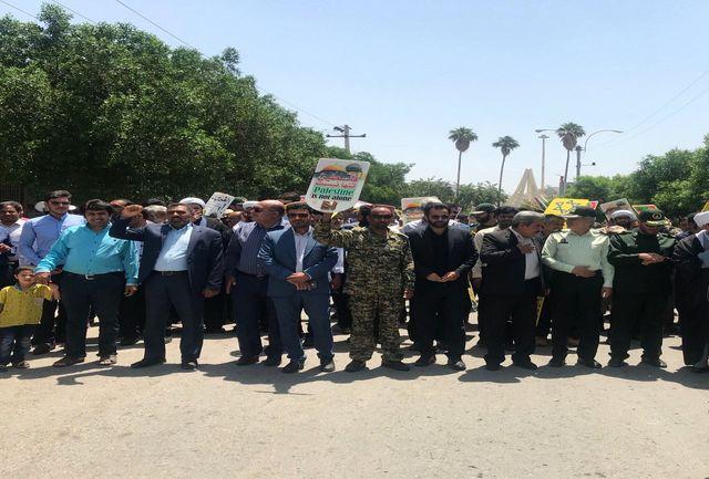 حضور شهردار ارزوییه در راهپیمایی روز قدس