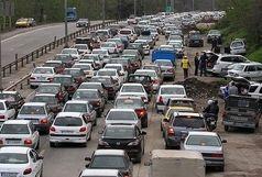 ترافیک سنگین در آزادراه کرج_تهران