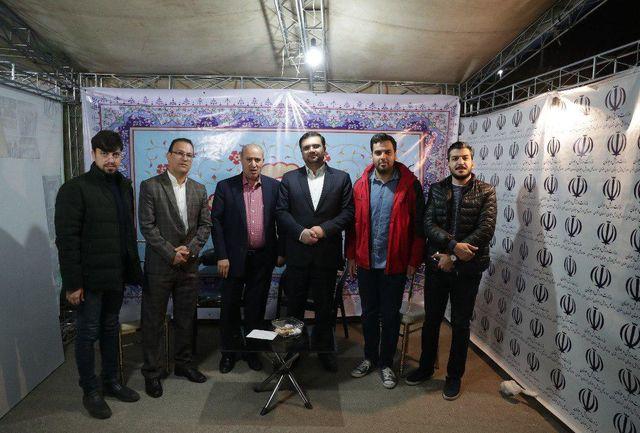 حضور رئیس فدراسیون فوتبال در غرفه خبرگزاری برنا