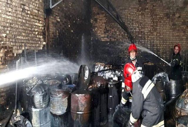 انفجار و آتش سوزی در شهرک صنعتی چهاردانگه