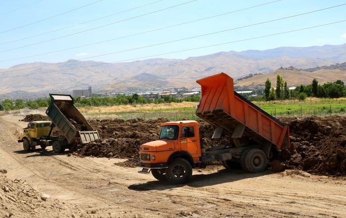 ساماندهی خاک و نخاله ساختمانی در جهت تنظیف سیمای شهری