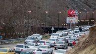 جاده چالوس از طرف تهران پرترافیک است