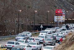ترافیک در آزادراه تهران - شمال و آزادراه قزوین - رشت