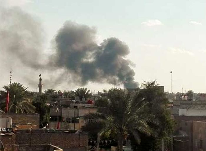 صدای انفجار مرکز بغداد را لرزاند