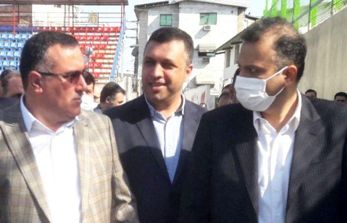 حضور امیری در بازدید ویژه مسوولان از ورزشگاه شهید وطنی